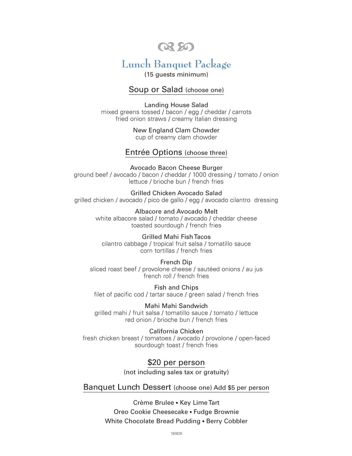 Lunch - Newport Landing