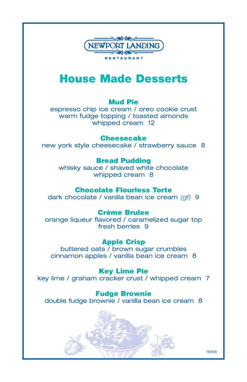 Dessert - Newport Landing