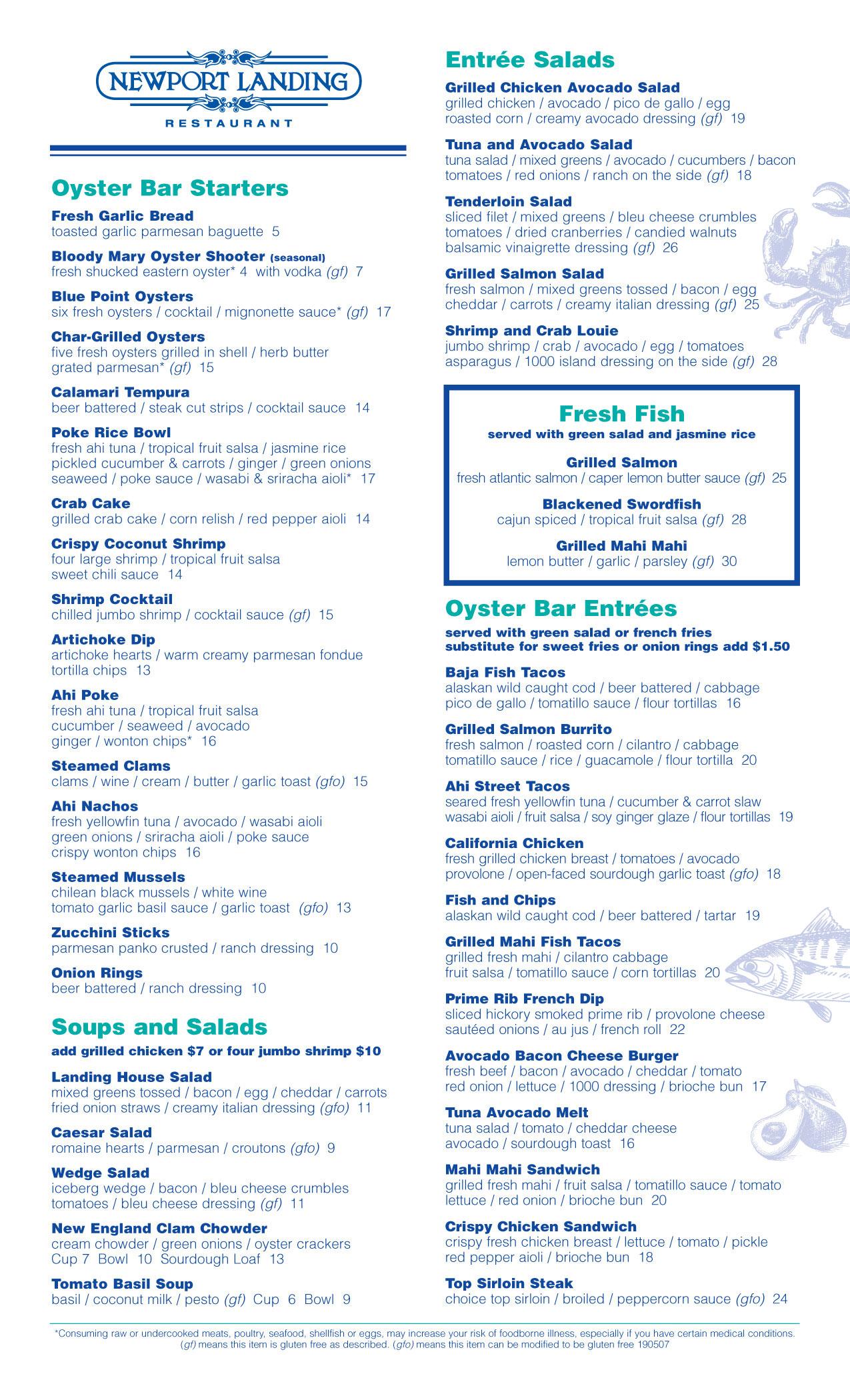 Oyster bar - Newport Landing